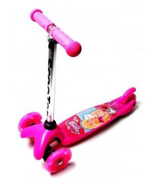 Самокат детский Mini Barbie