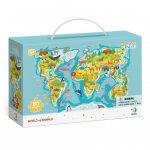 Пазл Мапа Світу Тваринки 300133