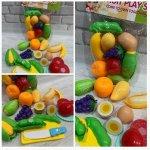 Фрукти та овочі на лиручках, що діляться навпіл в кульку 19,5-25-6см