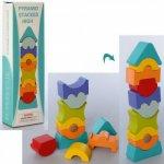 Дерев'яна пірамідка - баланс, кор., 8-24,5-3,5см.