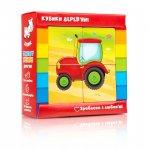 Дерев'яні кубики «Транспорт» Vladi-toys