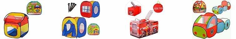 Палатки, корзини для іграшок, килимки